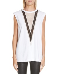 Helmut Lang Pointelle Detail Muscle Tank