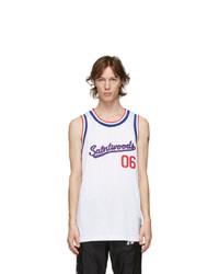 Saintwoods White Basketball Jersey Tank Top