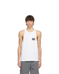 VERSACE JEANS COUTURE White Patch Logo Tank Top