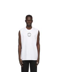 Burberry White Raised Print T Shirt