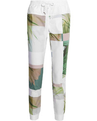 Printed cotton tapered pants medium 279723