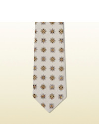 Gucci Printed Habutai Silk Tie