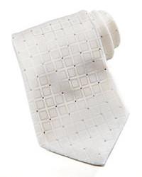 Stefano Ricci Stfno Ricci Squares Silk Tie White