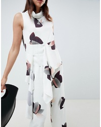 ASOS WHITE Co Ord Top In Floral Print