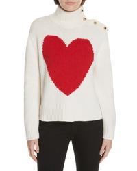kate spade new york Intarsia Heart High Neck Sweater