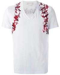 Alexander McQueen Marbled Print T Shirt