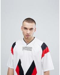 Puma Heritage Football T Shirt In White 57499802