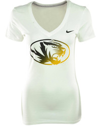 Nike Short Sleeve Missouri Tigers V Neck T Shirt