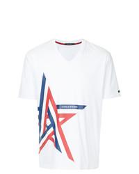 Striped star print t shirt medium 8466436