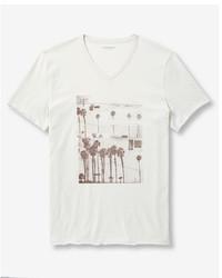Venice beach palm trees v neck graphic tee medium 3739188