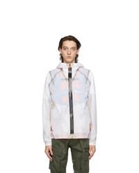 Nike White And Orange Ispa Inflate Jacket