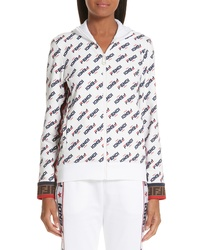 Fendi X Fila Mania Logo Jersey Jacket
