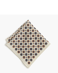 English wool pocket square in medallion print medium 735351