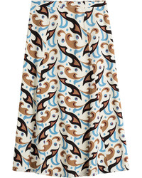 Etro Printed Wool Skirt
