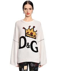 Dolce & Gabbana Crown Logo Intarsia Wool Sweater