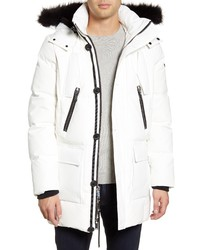 KARL LAGERFELD PARIS Faux Down Feather Quilted Parka