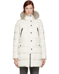 Ivory fur and down fragonette coat medium 834860