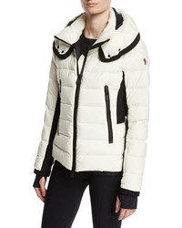 Moncler Lamoura Quilted Puffer Jacket Cream