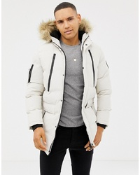 Good For Nothing Parka Coat In Stone