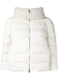 Cropped sleeve padded jacket medium 1315876