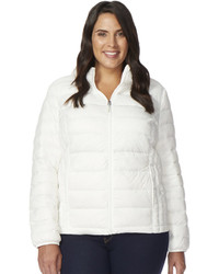 Heat Keep Plus Size Heat Keep Hooded Down Puffer Jacket