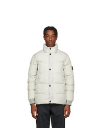 Stone Island Off White Down Crinkle Reps Ny Jacket