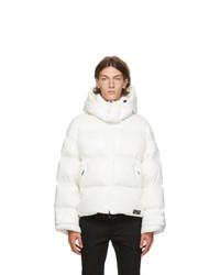 Valentino White Down Vltn Hooded Coat