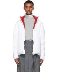 Thom Browne White Down Zip Up Jacket