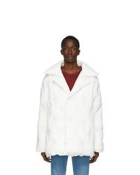 Maison Margiela White Recycled Nylon Glam Slam Puffer Coat