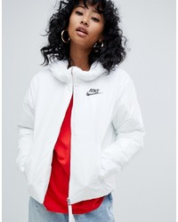 17b4f29d67e9 Nike White Small Logo Padded Jacket