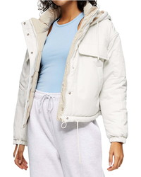 Topshop Wren Reversible Hooded Puffer Jacket