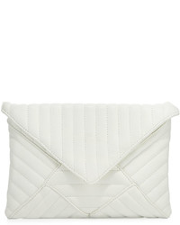 Linear quilted clutch bag white medium 778837