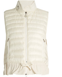 Moncler Hooded Quilted Down And Cotton Gilet