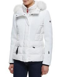 Alake bmat quilted down jacket w fur hood medium 4948473
