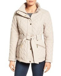 Belted quilted jacket medium 1249278