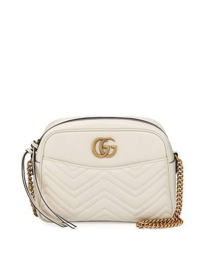 30f9c1de0 Gucci Gg Marmont 20 Medium Quilted Camera Bag White, $1,690 | Neiman ...