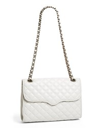 White Quilted Leather Crossbody Bag