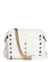 Lanvin Baby Sugar Metal Pearl Leather Crossbody Bag