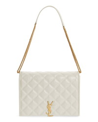 Saint Laurent Small Becky Quilted Lambskin Leather Shoulder Bag