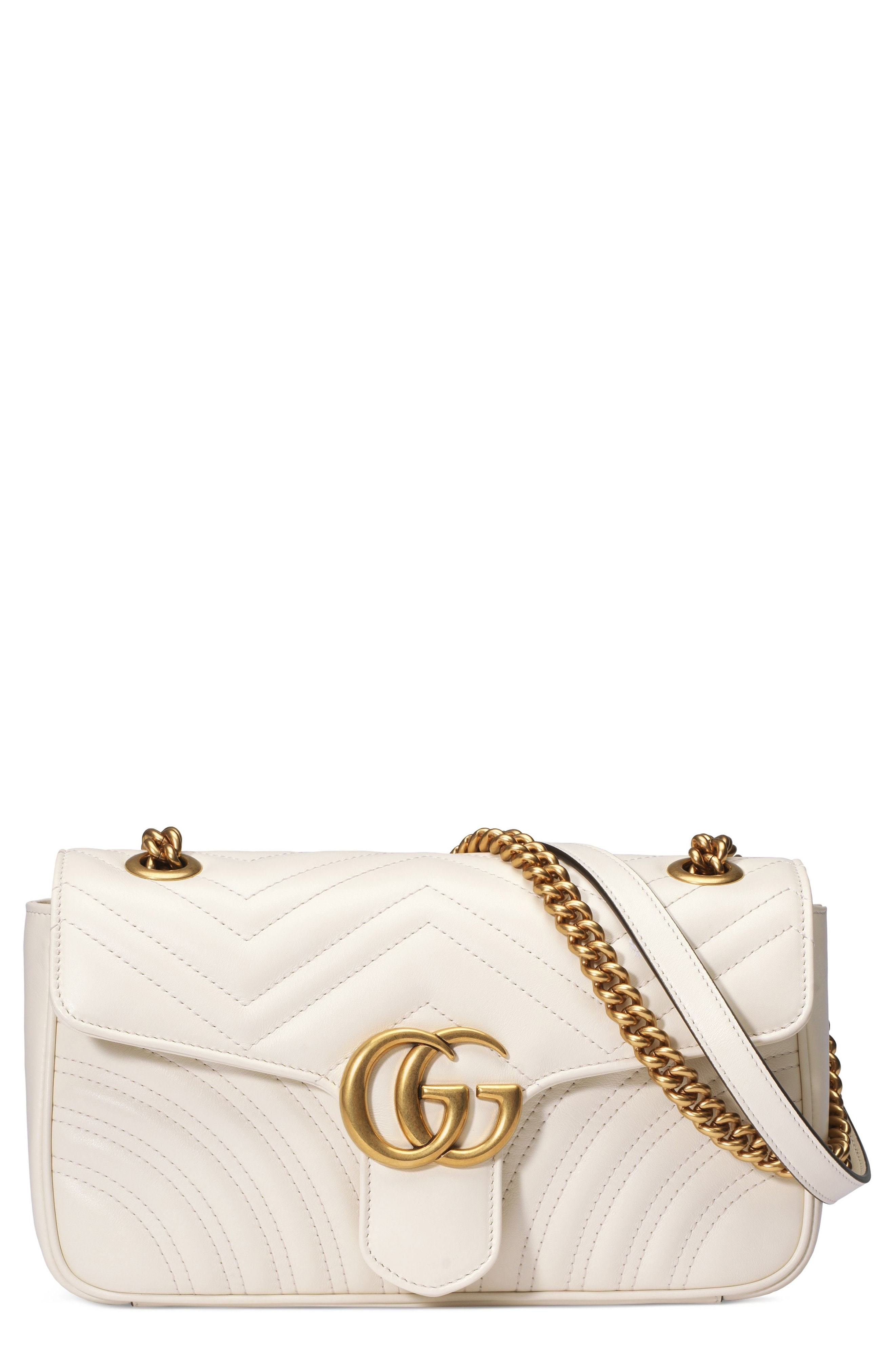 3e66bc7eebf1 ... White Quilted Leather Crossbody Bags Gucci Small Gg Marmont 20 Matelasse  Leather Shoulder Bag
