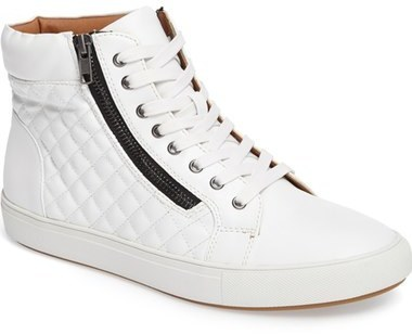 e25ef191fb8 ... Steve Madden Quodis Quilted High Top Sneaker ...