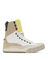 Chloé White Clint High Top Sneakers