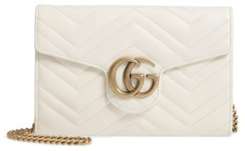 b5eb3eac46a0a4 ... White Quilted Leather Satchel Bags Gucci Gg Marmont 20 Matelasse Leather  Wallet On A Chain ...