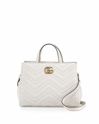 Gg marmont small matelass top handle bag white medium 3831432