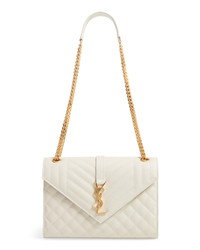 Saint Laurent Medium Mono Calfskin Leather Shoulder Bag