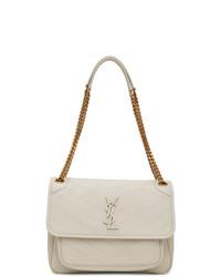 Saint Laurent Off White Medium Niki Bag