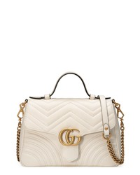 Gucci Small Gg Marmont 20 Matelasse Leather Bag