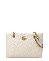 Gucci Gg Marmont 20 Matelasse Medium Leather Eastwest Tote Bag