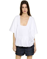 Chloé Quilted Cotton Jersey T Shirt