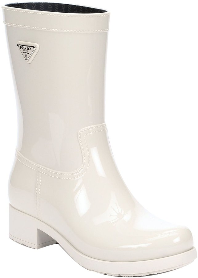 Prada Sport Powder Rubber Rain Boots | Where to buy & how to wear